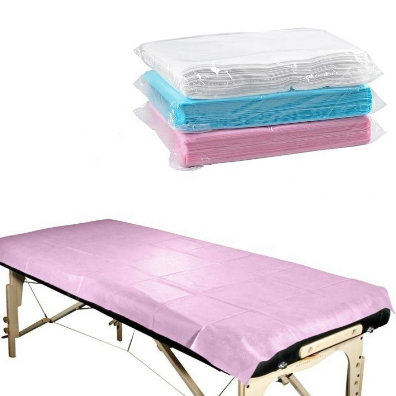 Bed Sheet Flat Non-woven Disposable SMS/SBPP/SF For Hospital Hotel Use