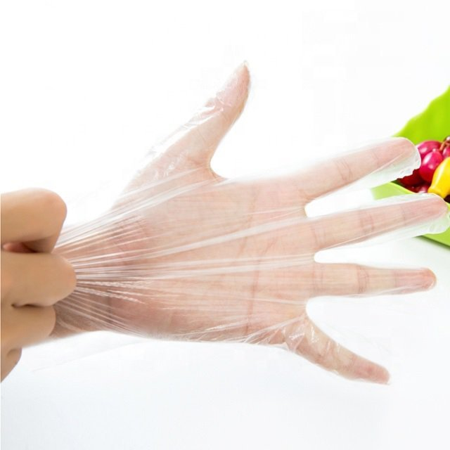 HDPE Glove Clear Plastic Polythene Disposable Cleaning
