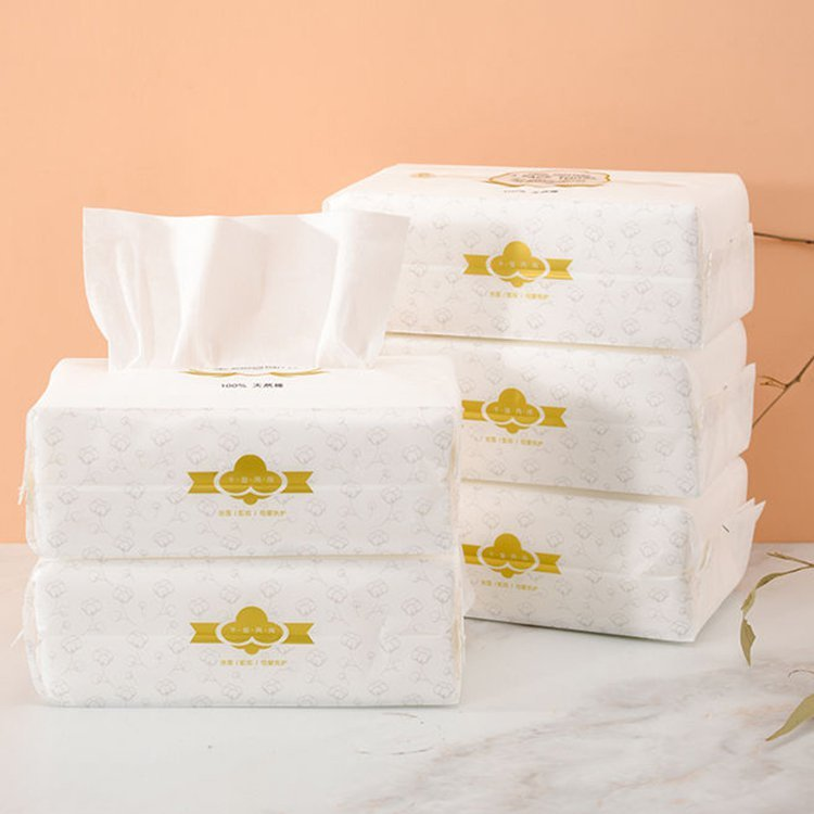 Daily Use Disposable Soft Cotton Towel With Dry And Wet Dual-use Pull Type Facial Towel
