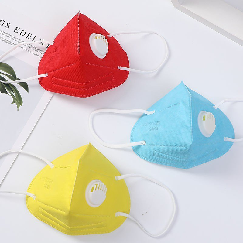 Non-woven Disposable Half Mask Earloop KN95 Face Mask With Valve