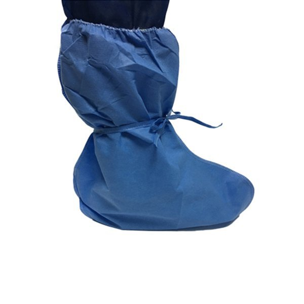 Dustproof Non-woven SBPP Boot Covers With Ties Breathable
